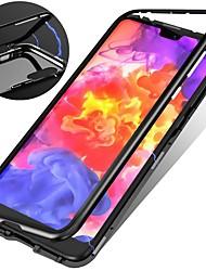 Недорогие -Кейс для Назначение Apple iPhone XR / iPhone XS Max Защита от удара / Магнитный Кейс на заднюю панель Однотонный Твердый Закаленное стекло для iPhone XS / iPhone XR / iPhone XS Max