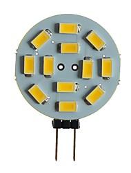 Недорогие -SENCART 1шт 5 W 360 lm G4 / MR11 Двухштырьковые LED лампы T 12 Светодиодные бусины SMD 5630 Декоративная Тёплый белый / Белый 12 V