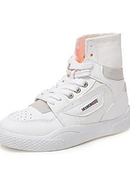 Недорогие -Жен. Комфортная обувь Полиуретан Осень На каждый день Кеды На плоской подошве Круглый носок Белый / Зеленый