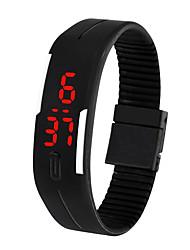 voordelige -Heren Digitaal horloge Digitaal Rubber Wit / Blauw / Bruin 30 m Waterbestendig Creatief Nieuw Design Digitaal Informeel Modieus - Groen Blauw Roze