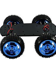Недорогие -4wd цельнометаллический мотор умный автомобиль шасси большой крутящий момент робот Arduino