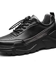 Недорогие -Муж. Комфортная обувь Наппа Leather Зима Спортивные / На каждый день Спортивная обувь Водостойкий Черный
