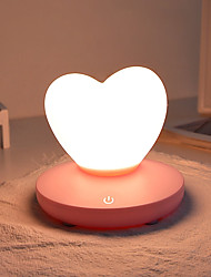 billige Originale lamper-1pc LOVE LED Night Light / Nursery Night Light Trefarget Usb For barn / Oppladbar / Mulighet for demping 5 V