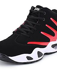 baratos -Mulheres Sapatos Confortáveis Sintéticos Inverno Esportivo / Vintage Tênis Basquete Sem Salto Preto / Preto / Vermelho / Black / azul