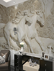 baratos -papel de parede / Mural Tela de pintura Revestimento de paredes - adesivo necessário Sólido / Art Deco / 3D