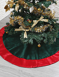 abordables -Noël Vacances / Arbre de Noël Tissu Circulaire Soirée Décoration de Noël