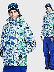 Недорогие -Vector Муж. Лыжная куртка и брюки С защитой от ветра, Водонепроницаемость, Дожденепроницаемый Катание на лыжах / Отдых и Туризм / Сноубординг 100% полиэстер, Хлопок Зимняя куртка / Снегурочка