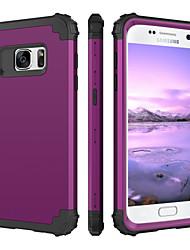 Недорогие -BENTOBEN Кейс для Назначение SSamsung Galaxy S7 Защита от удара Чехол Однотонный Твердый Силикон / ПК для S7