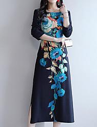 billige -Kvinder går ud på kappe kjole midi