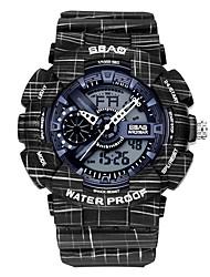 Недорогие -Муж. Спортивные часы электронные часы Японский Цифровой Стеганная ПУ кожа Черный / Белый / Зеленый 30 m Защита от влаги Календарь Секундомер Аналого-цифровые Кольцеобразный Мода -  / Два года