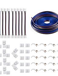 Недорогие -KWB 1шт Водонепроницаемый / Газонокосилка ABS + PC Электрический кабель Разноцветный для RGB LED Strip Light