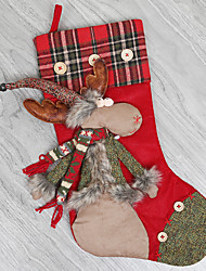 Недорогие -Праздничные украшения Рождественский декор Рождественские чулки Для вечеринок / Праздник Красный 1шт