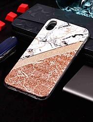 baratos -Capinha Para Apple iPhone XR / iPhone XS Max IMD / Estampada Capa traseira Mármore Macia TPU para iPhone XS / iPhone XR / iPhone XS Max