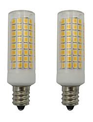 Недорогие -5w e12 привело кукурузные огни 102 светодиода 2835 smd для домашнего освещения люстр вентилятора переменного тока 220 - 240v теплый / холодный белый (2 шт)
