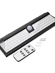 abordables -1pc 3 W Lampe murale solaire Imperméable / Télécommandé / Solaire Blanc 5.5 V Eclairage Extérieur / Cour / Jardin 90 Perles LED