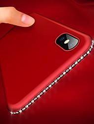Недорогие -Кейс для Назначение Apple iPhone XR / iPhone XS Max Ультратонкий / Матовое Кейс на заднюю панель Стразы Мягкий ТПУ для iPhone XS / iPhone XR / iPhone XS Max