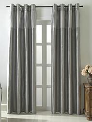 billige -Mørklægningsgardin forhæng Soveværelse Farveblok / Stribe / Bohemisk Polyester Plisseret