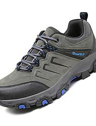 baratos -Homens Sapatos Confortáveis Com Transparência / Couro Ecológico Outono Esportivo Tênis Aventura Não escorregar Estampa Colorida Cinzento / Marron / Verde Tropa