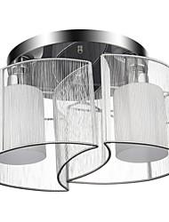 baratos -Lightinthebox Montagem do Fluxo Luz Ambiente Cromado Metal Tecido Estilo Mini 110V / 110-120V / 220-240V Lâmpada Não Incluída / E26 / E27