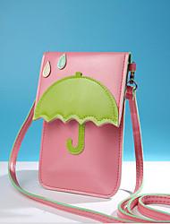 Недорогие -Жен. Мешки PU Мобильный телефон сумка Молнии Бежевый / Пурпурный / Светло-лиловый