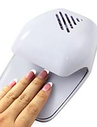 Недорогие -Электрический Ветер Автоматическое давление Активизирует Сушилка для ногтей белым кончиком вентилятор (приведенный в 2 АА батареи)