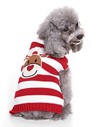 Недорогие -Собаки Свитера Одежда для собак Тонка шерсть Окрашенная пряжа Персонажи Черный Красный Терилен Костюм Назначение Бульдог Шиба-Ину Коккер-спаниель Осень Зима Универсальные Милый стиль На каждый день