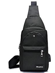 Недорогие -Муж. Мешки Полиэстер Слинг сумки на ремне Сплошной цвет Темно-синий / Лиловый / Светло-серый