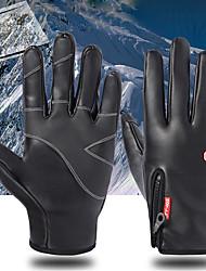 Недорогие -Спортивные перчатки / Зимние / Лыжные перчатки Муж. / Жен. Полный палец С защитой от ветра / Водонепроницаемость / Сохраняет тепло Кожа / Силикон / Тканый хлопок