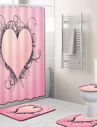 Недорогие -1 комплект Modern Коврики для ванны 100 г / м2 полиэфирный стреч-трикотаж Креатив Прямоугольная Ванная комната Легко очистить