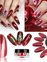 voordelige -1 pcs Schitteren Klassiek / Beste kwaliteit Romantische serie Klassiek Thema Nagel kunst Manicure pedicure Kerstmis / Halloween / Feest / Uitgaan Luxe / Rococo