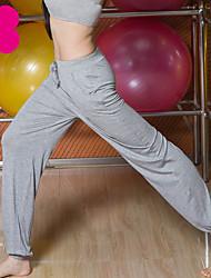 billiga -Dam Ficka Yoga byxor - Grå, Vinröd, Mörk Marin sporter Ensfärgat Modal underbyxor Löpning, Fitness, Gym Sportkläder Lättvikt, Andningsfunktion, Mjuk Hög Elasisitet Ledig / Vinter