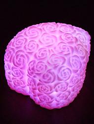 Недорогие -во главе сердца форму розы цветок ночь свет радуги 7 цвет изменить лампу любовник подарок