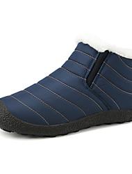Недорогие -Муж. Комфортная обувь Синтетика Зима На каждый день Ботинки Сохраняет тепло Черный / Темно-синий / Серый
