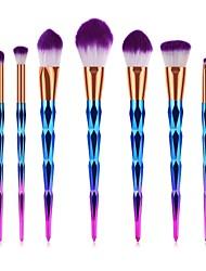abordables -7 pcs Pinceaux à maquillage Professionnel Pinceau à Blush / Pinceau Fard à Paupières / Pinceau à Lèvres Fibre Nylon Couvrant
