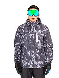 Недорогие -Муж. толстовка с капюшоном куртки / Худи и толстовка / Лыжная куртка Съемный капюшон, Лыжи, Зимние виды спорта Отдых и Туризм / Катание на лыжах / На открытом воздухе / Зима