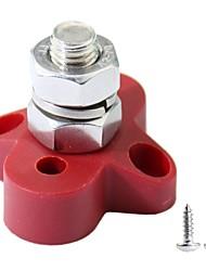 Недорогие -силовые клеммные колодки m10 одиночная мощность штыря и блок заземления-красный
