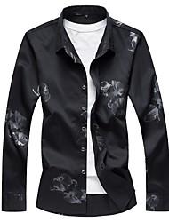 Недорогие -Муж. Рубашка Деловые Цветочный принт