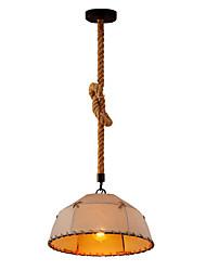 Недорогие -промышленные Подвесные лампы Потолочный светильник Металл Ткань Защите для глаз, Веревка, Творчество 110-120Вольт / 220-240Вольт
