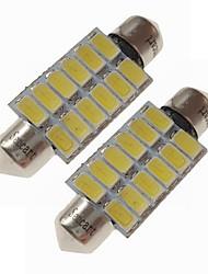 Недорогие -SENCART 2pcs 39mm Автомобиль Лампы 6 W SMD 5730 360 lm 12 Светодиодная лампа Внутреннее освещение / Внешние осветительные приборы Назначение