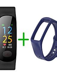 abordables -KUPENG B18Plus Bracelet à puce Android iOS Bluetooth Sportif Imperméable Moniteur de Fréquence Cardiaque Mesure de la pression sanguine Podomètre Rappel d'Appel Moniteur d'Activité Moniteur de