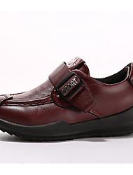 abordables -Garçon Chaussures Cuir Nappa Printemps / Automne Confort Ballerines pour Enfants Jaune / Bleu / Bourgogne