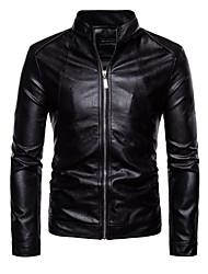 baratos -jaqueta de couro do plutônio plus size masculino - suporte colorido sólido