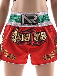 billiga -Muay Thai-shorts / Boxningsshorts Till Kampsport, Brottning, UFC Elastiskt midjeband Broderi Lättvikt, Snabb tork, Bärbar Polyester Vuxen / Barn - Purpur / Röd / Rosa