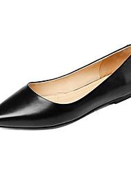 Недорогие -Жен. Наппа Leather Весна На плокой подошве На плоской подошве Заостренный носок Черный