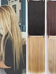 Недорогие -Синтетические экстензии Прямой Искусственные волосы 22 дюймы Наращивание волос Клип во / на 1 шт. синтетический Удлинитель Жен. На каждый день