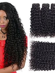 Недорогие -6 Связок Малазийские волосы Индийские волосы Прямой Волнистые 8A Натуральные волосы Необработанные натуральные волосы Подарки Головные уборы Человека ткет Волосы 8-28 дюймовый Черный