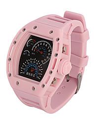 Недорогие -Для пары Наручные часы Японский Цифровой силиконовый Черный / Белый / Синий Секундомер Крупный циферблат Аналого-цифровые Кольцеобразный Цветной - Серый Синий Розовый Два года Срок службы батареи