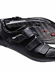 Недорогие -Взрослые Обувь для шоссейного велосипеда Нейлон, стекловолокно, воздушное отверстие,противоскользящие протекторы Дышащий Амортизация Вентиляция Велосипедный спорт / Велоспорт Для велоспорта Черный