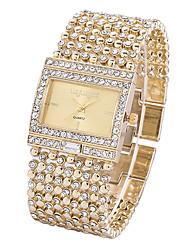 Недорогие -Жен. Наручные часы Diamond Watch золотые часы Японский Кварцевый Нержавеющая сталь Серебристый металл / Золотистый Секундомер Светящийся Повседневные часы Аналоговый Дамы Блестящие Элегантный стиль -