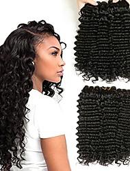 Недорогие -6 Связок Индийские волосы Крупные кудри Натуральные волосы Человека ткет Волосы Уход за волосами Пучок волос 8-28 дюймовый Нейтральный Естественный цвет Ткет человеческих волос Машинное плетение
